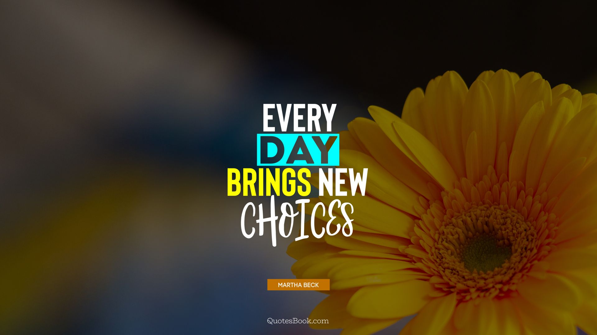 Every day brings new choices. - Quote by Martha Beck