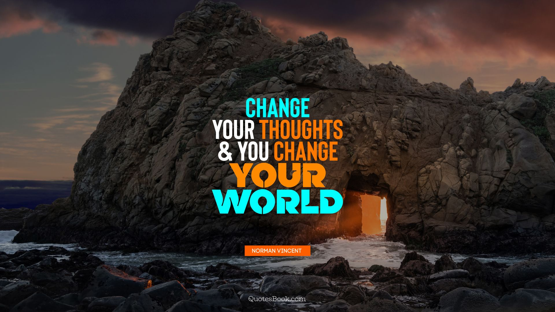 Change your thoughts and you change your world. - Quote by Norman Vincent Peale
