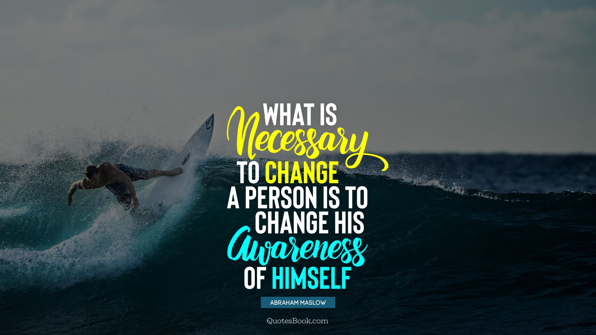 What is necessary to change a person is to change his awareness of himself. - Quote by Abraham Maslow