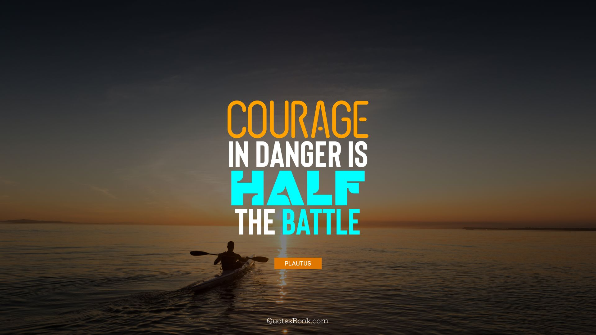 Courage in danger is half the battle. - Quote by Plautus