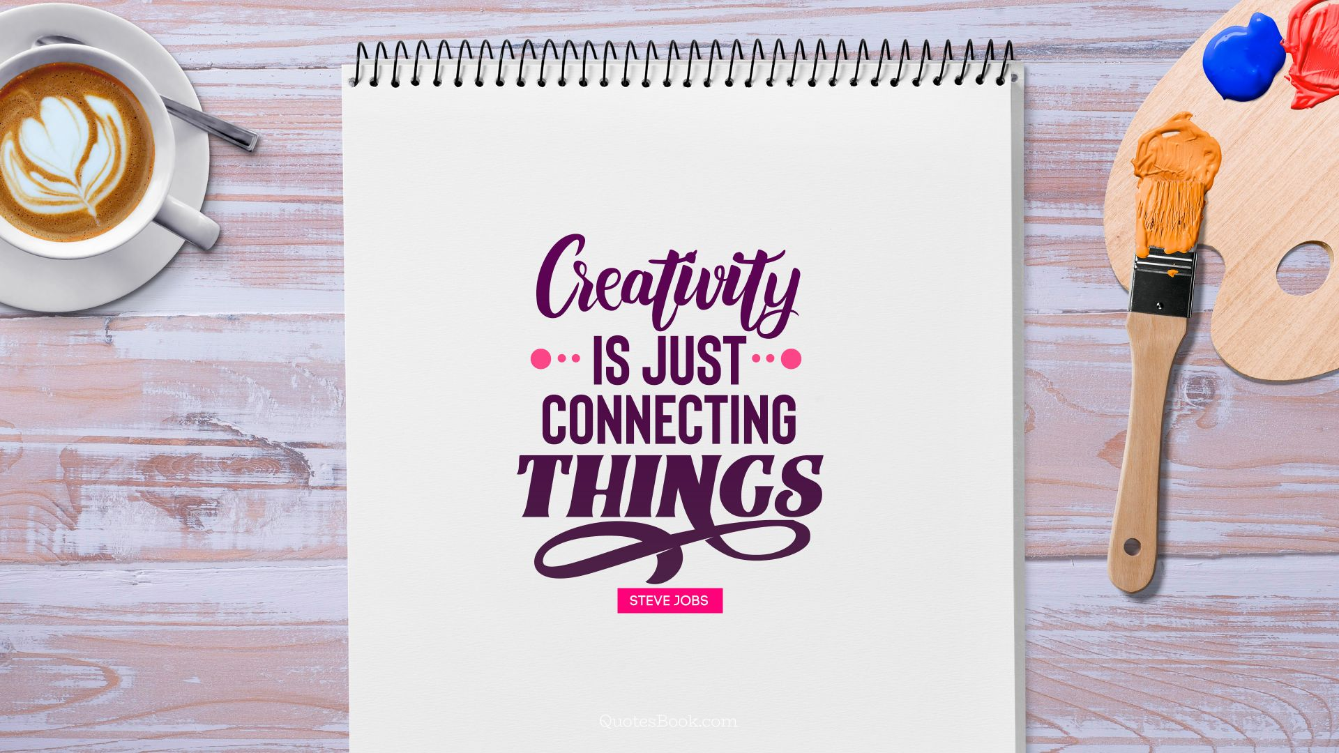 Creativity is just connecting things. - Quote by Steve Jobs