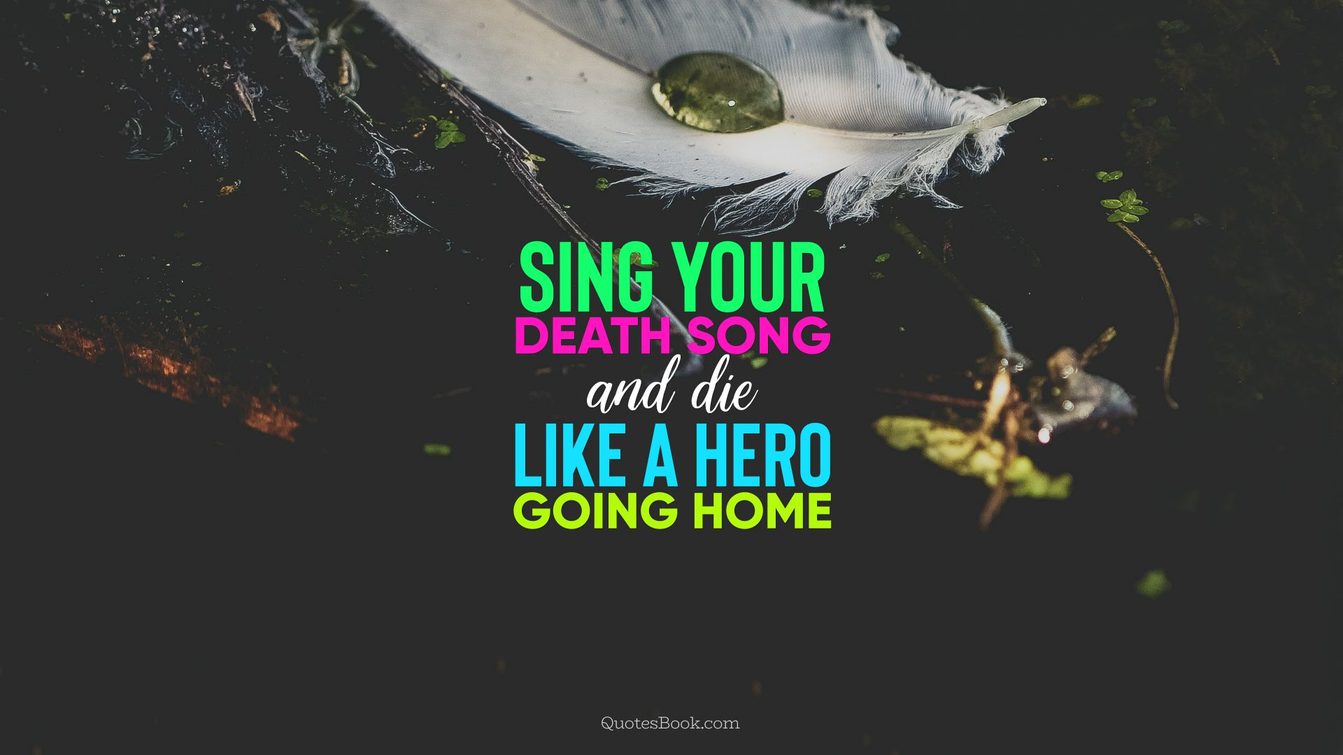 Sing your death song and die like a hero