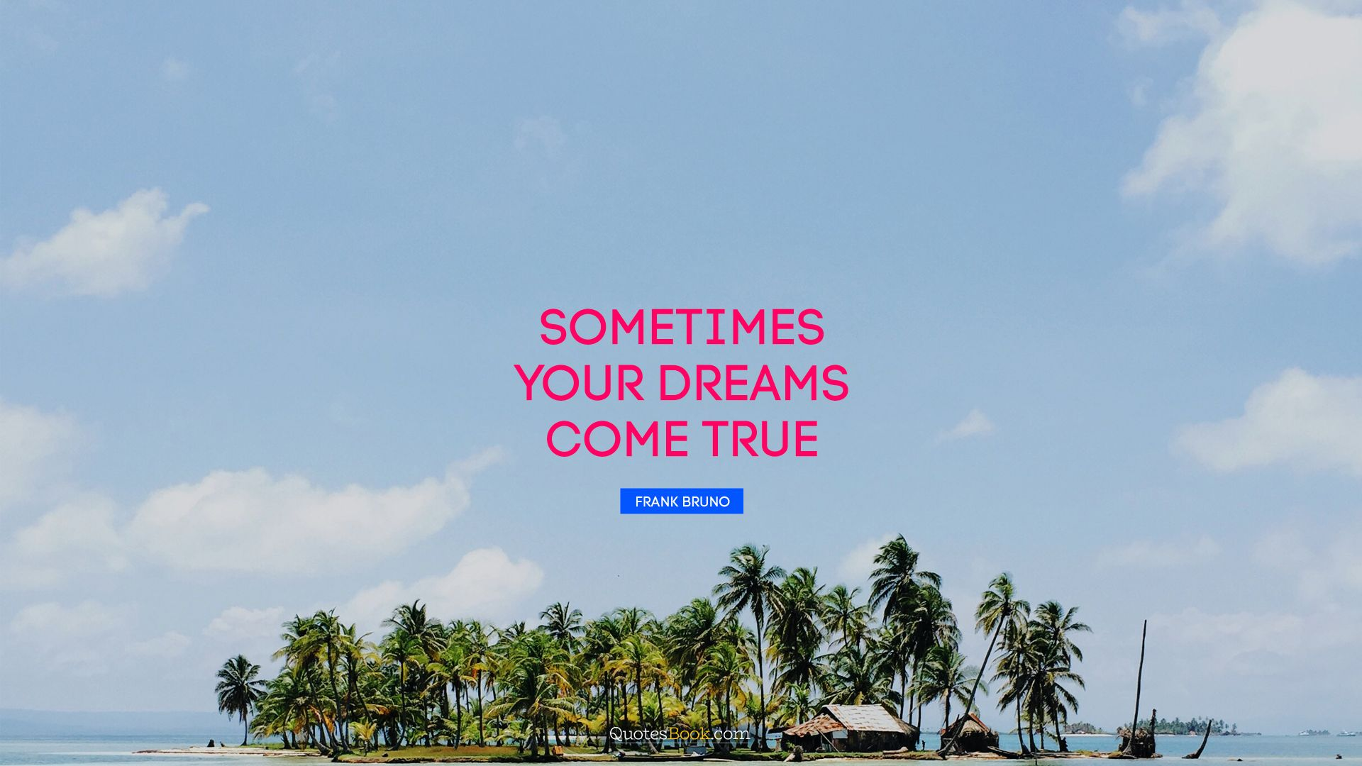 Sometimes your dreams come true. - Quote by Frank Bruno