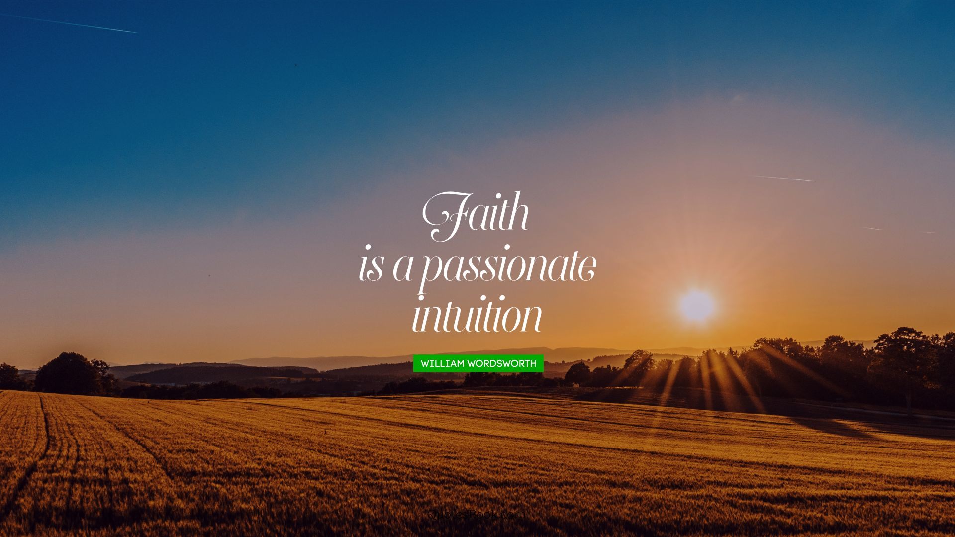 Faith is a passionate intuition. - Quote by William Wordsworth