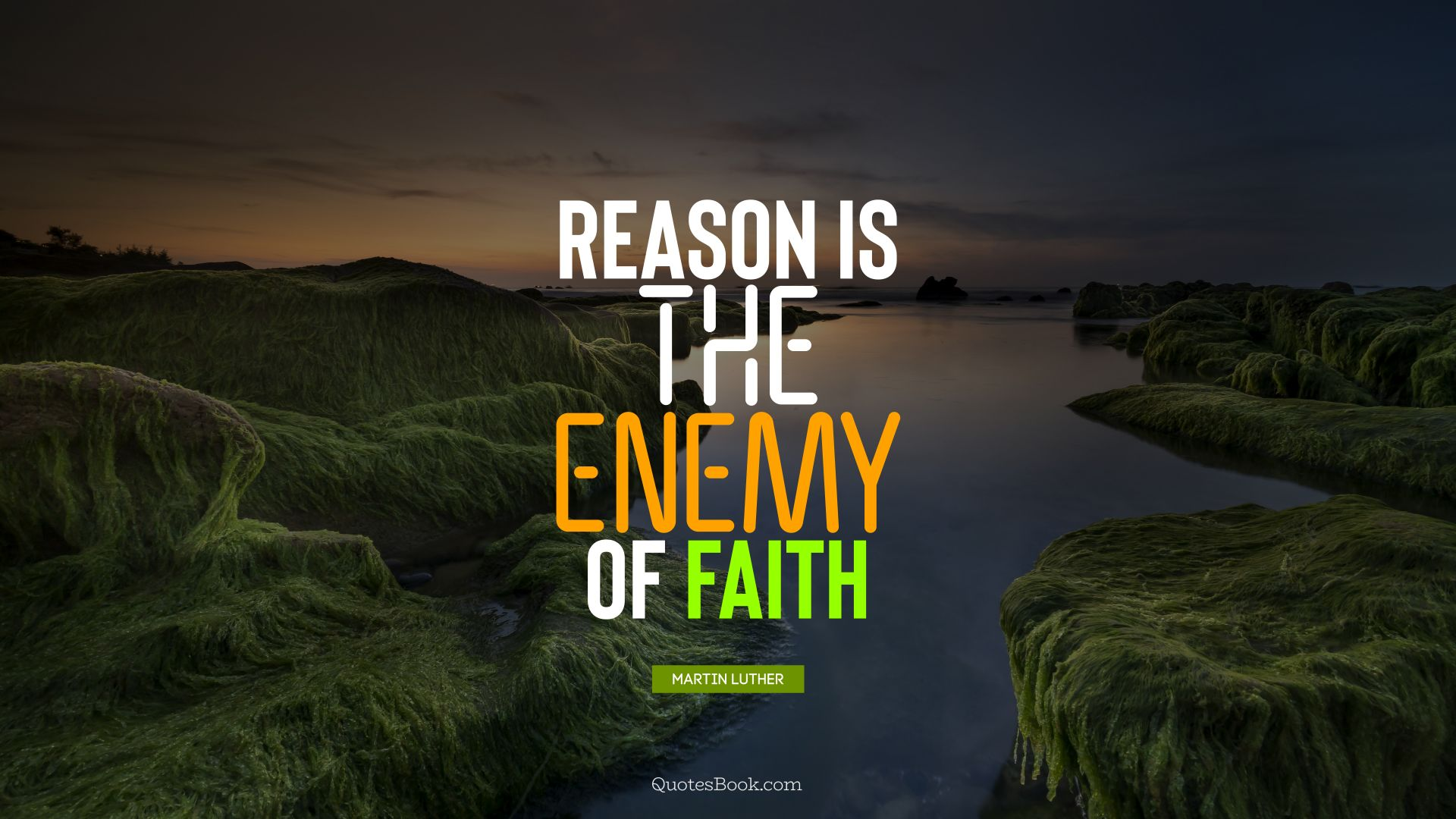 Reason is the enemy of faith. - Quote by Martin Luther
