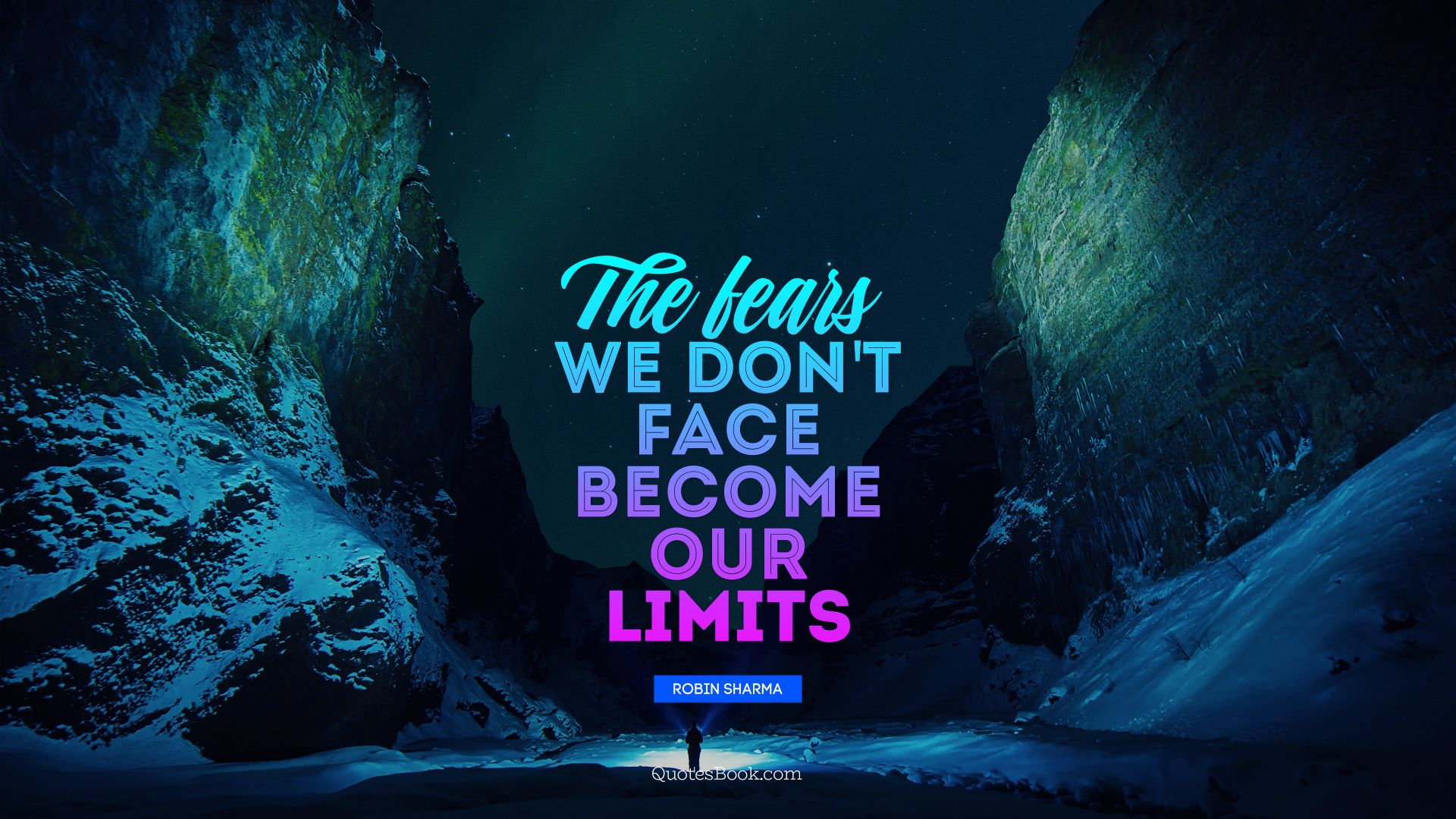 The fears we don't face become our limits. - Quote by Robin Sharma