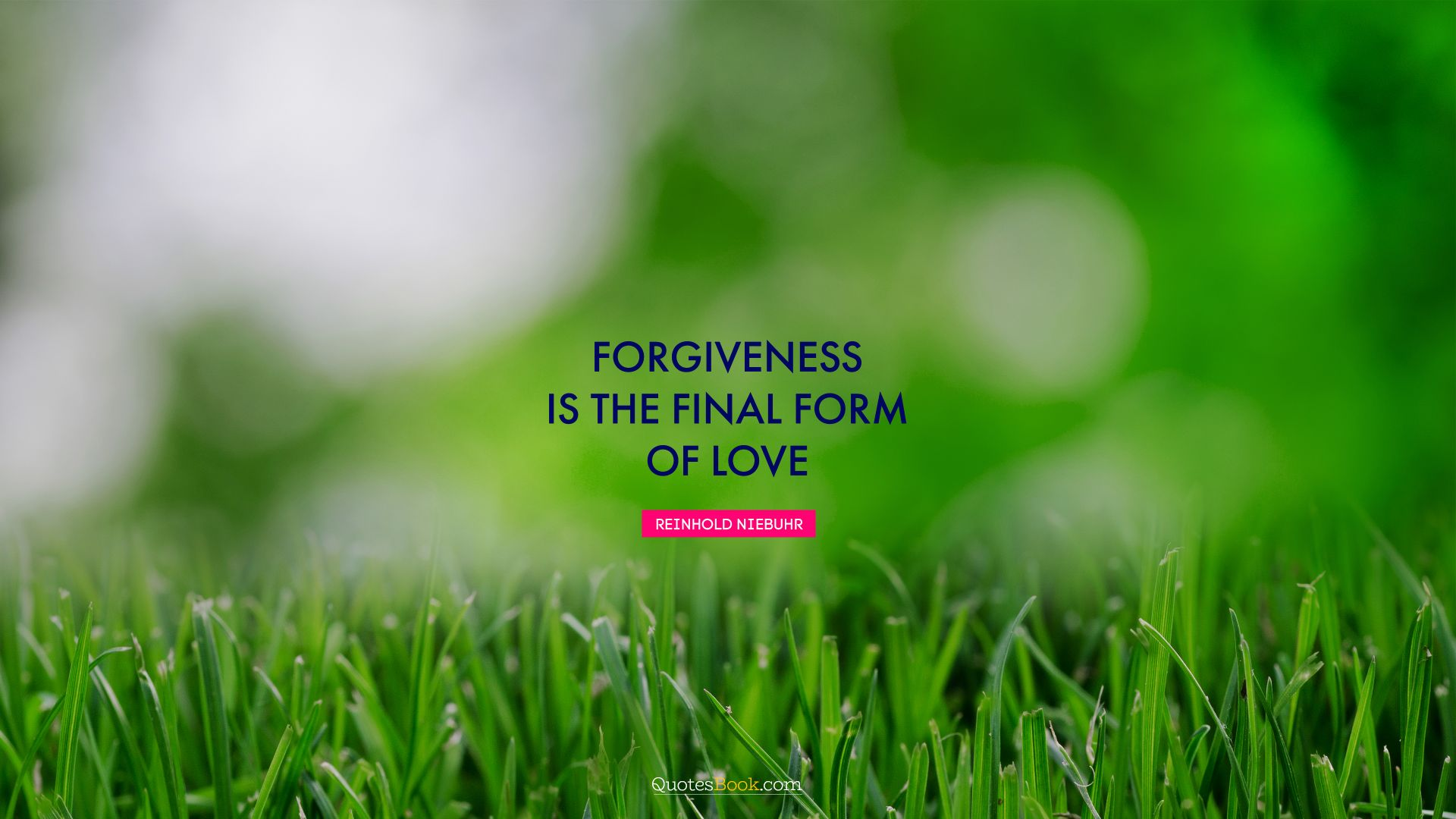 Forgiveness is the final form of love. - Quote by Reinhold Niebuhr