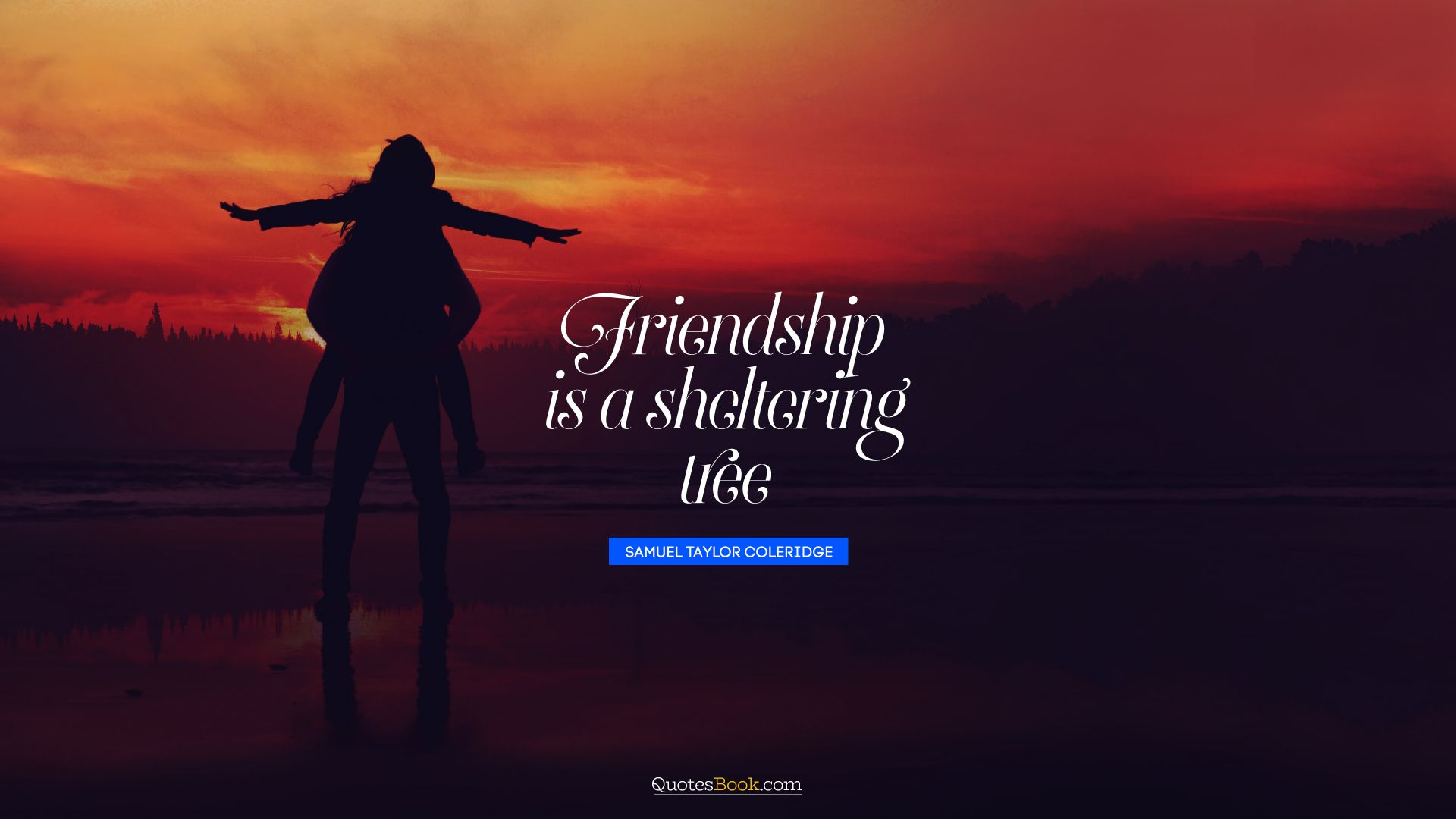 Friendship is a sheltering tree. - Quote by Samuel Taylor Coleridge