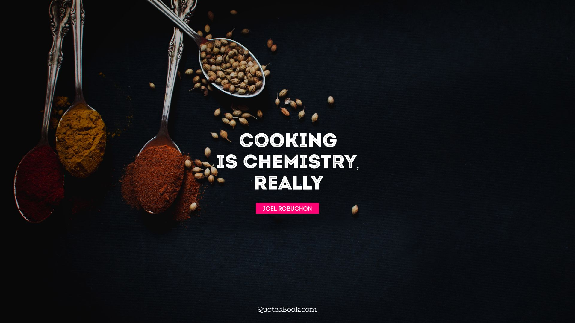 Cooking is chemistry, really. - Quote by Joel Robuchon