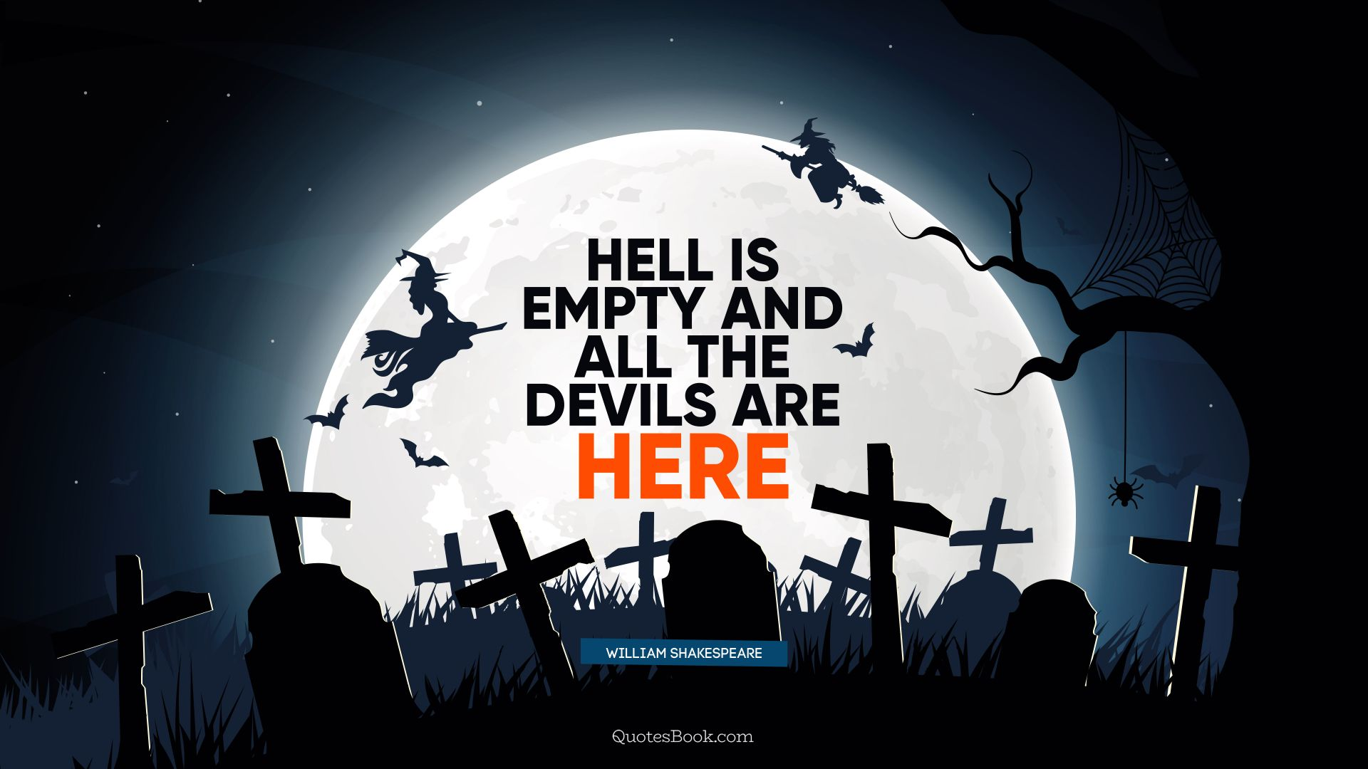 Hell is empty and all the devils are here. - Quote by William Shakespeare