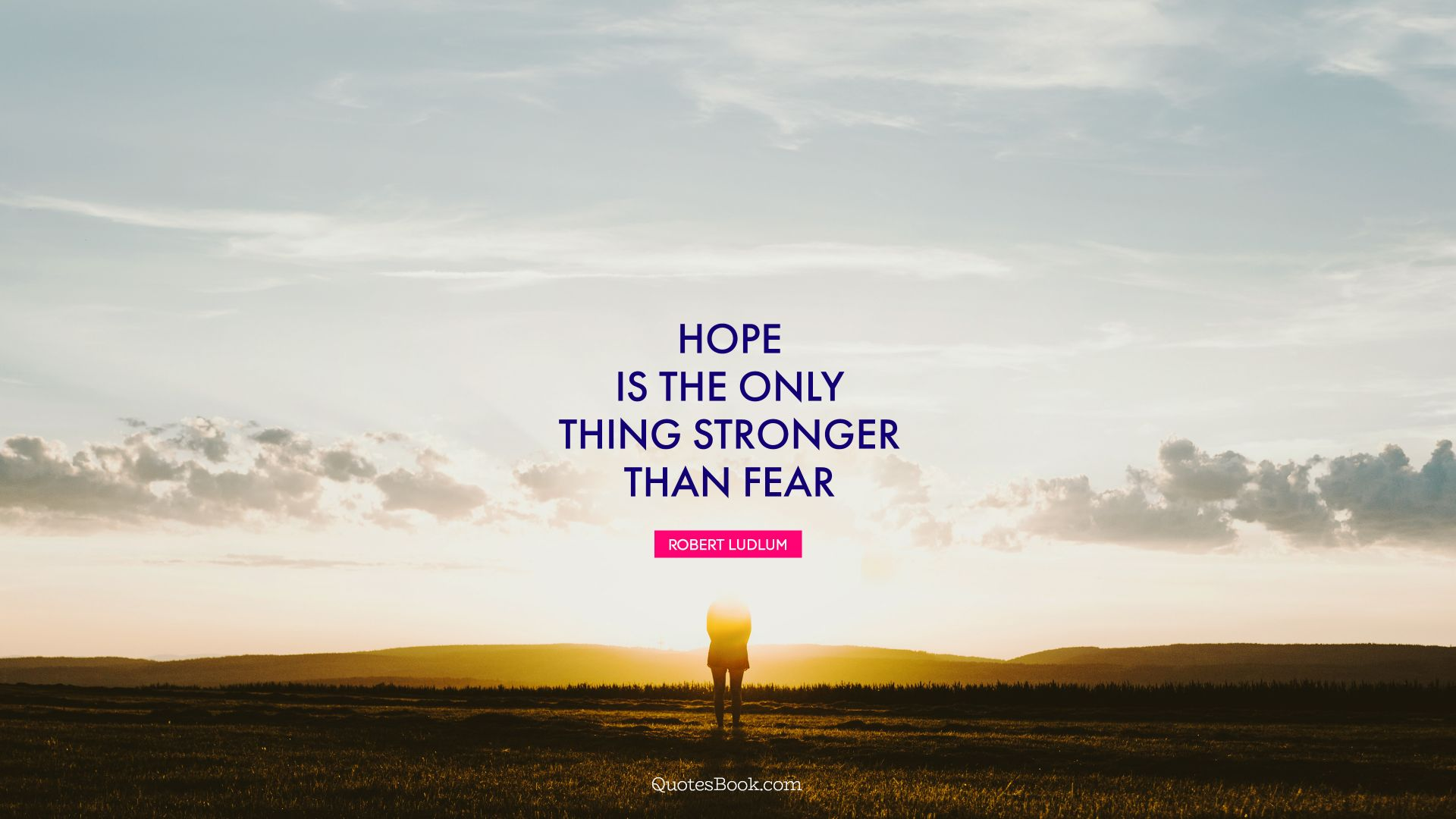Hope is the only thing stronger than fear. - Quote by Robert Ludlum