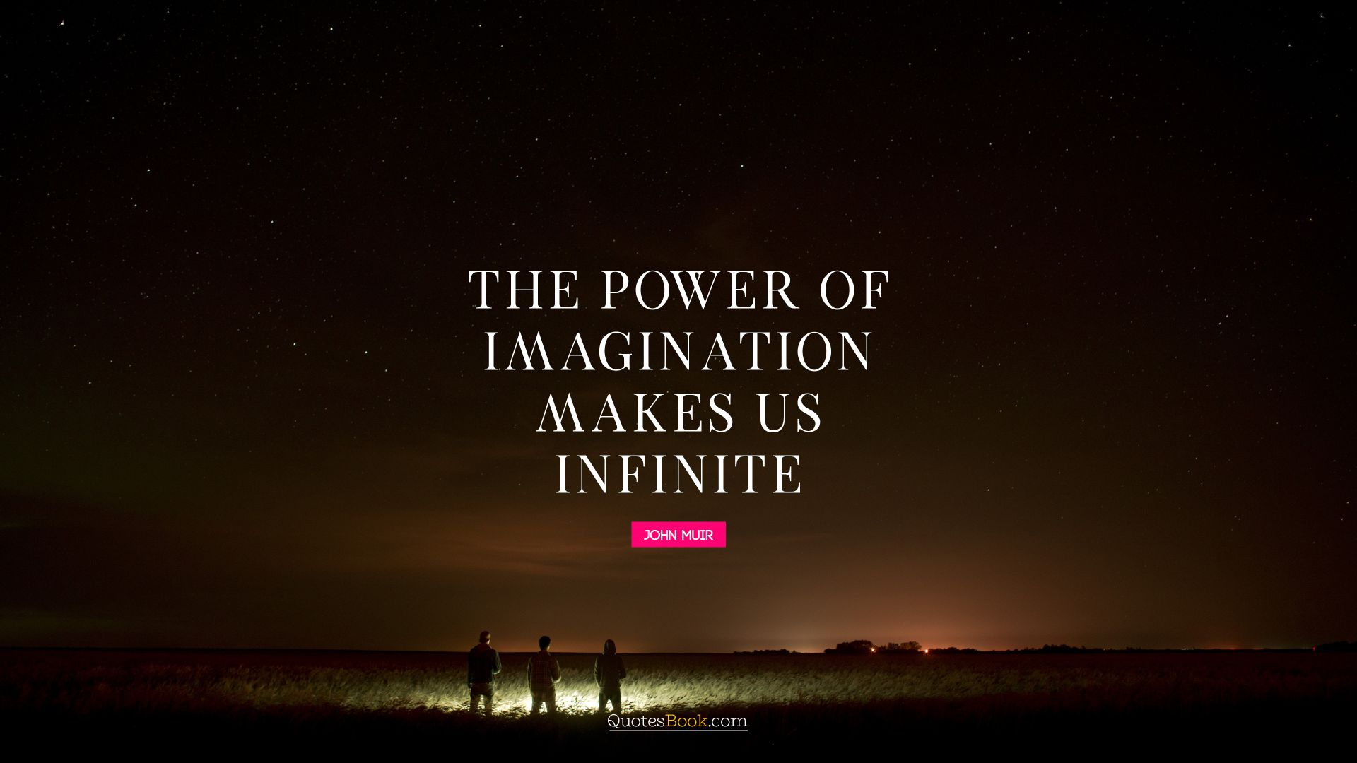 The power of imagination makes us infinite. - Quote by John Muir