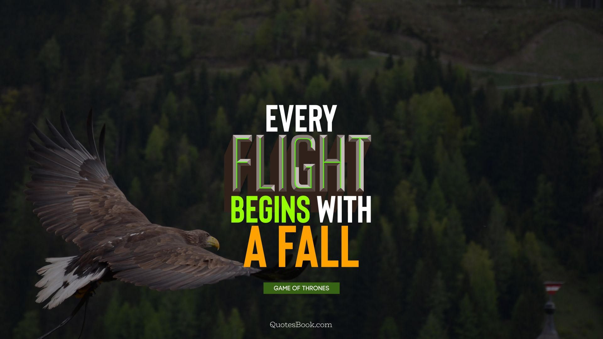 Every flight begins with a fall. - Quote by George R.R. Martin