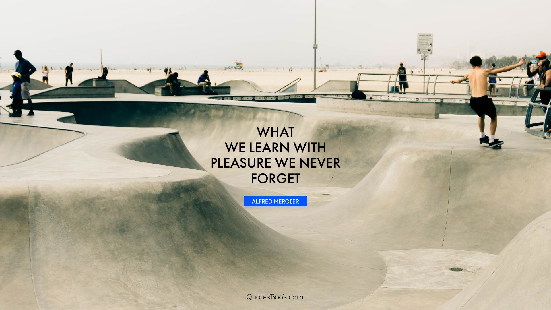 What we learn with pleasure we never forget. - Quote by Alfred Mercier
