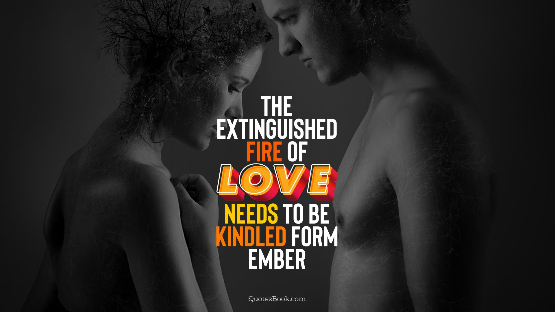 The extinguished fire of love needs to be kindled form ember. - Quote by QuotesBook