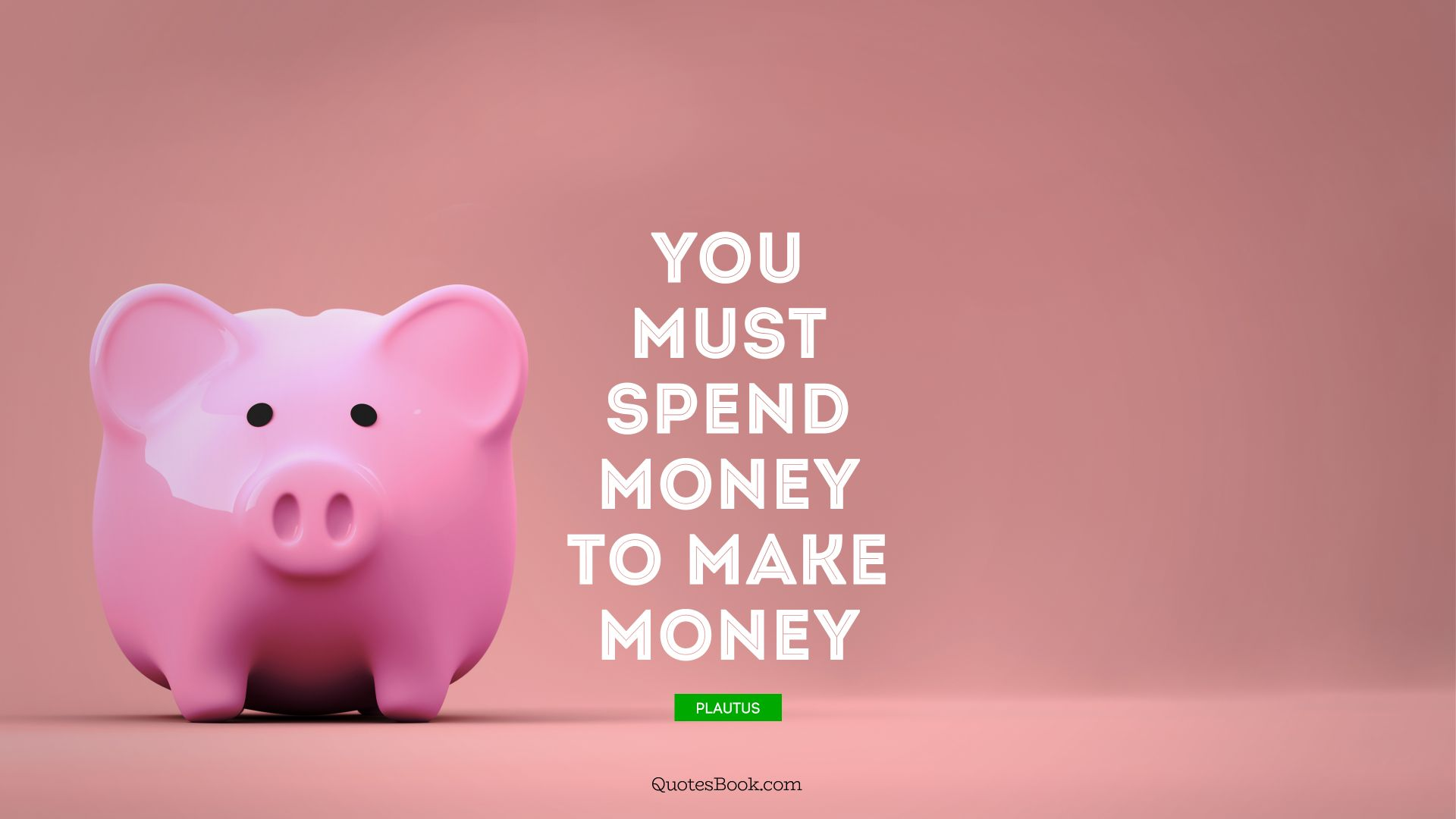 You must spend money to make money. - Quote by Plautus