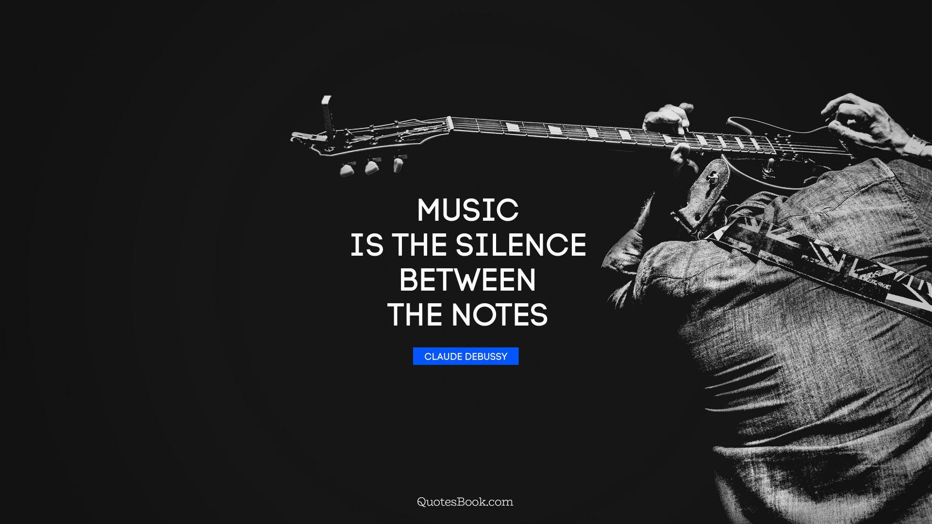 Music is the silence between the notes. - Quote by Claude Debussy