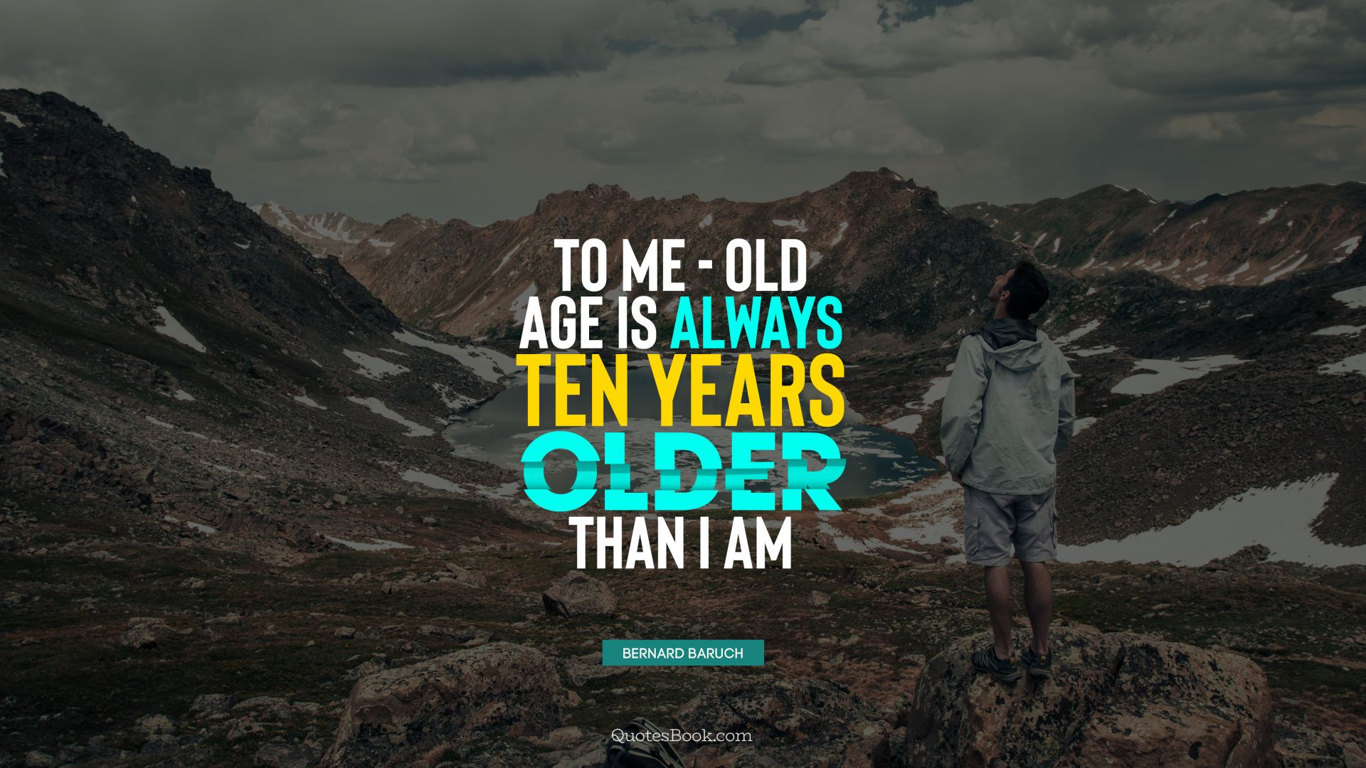 To me - old age is always ten years older than I am. - Quote by Bernard Baruch