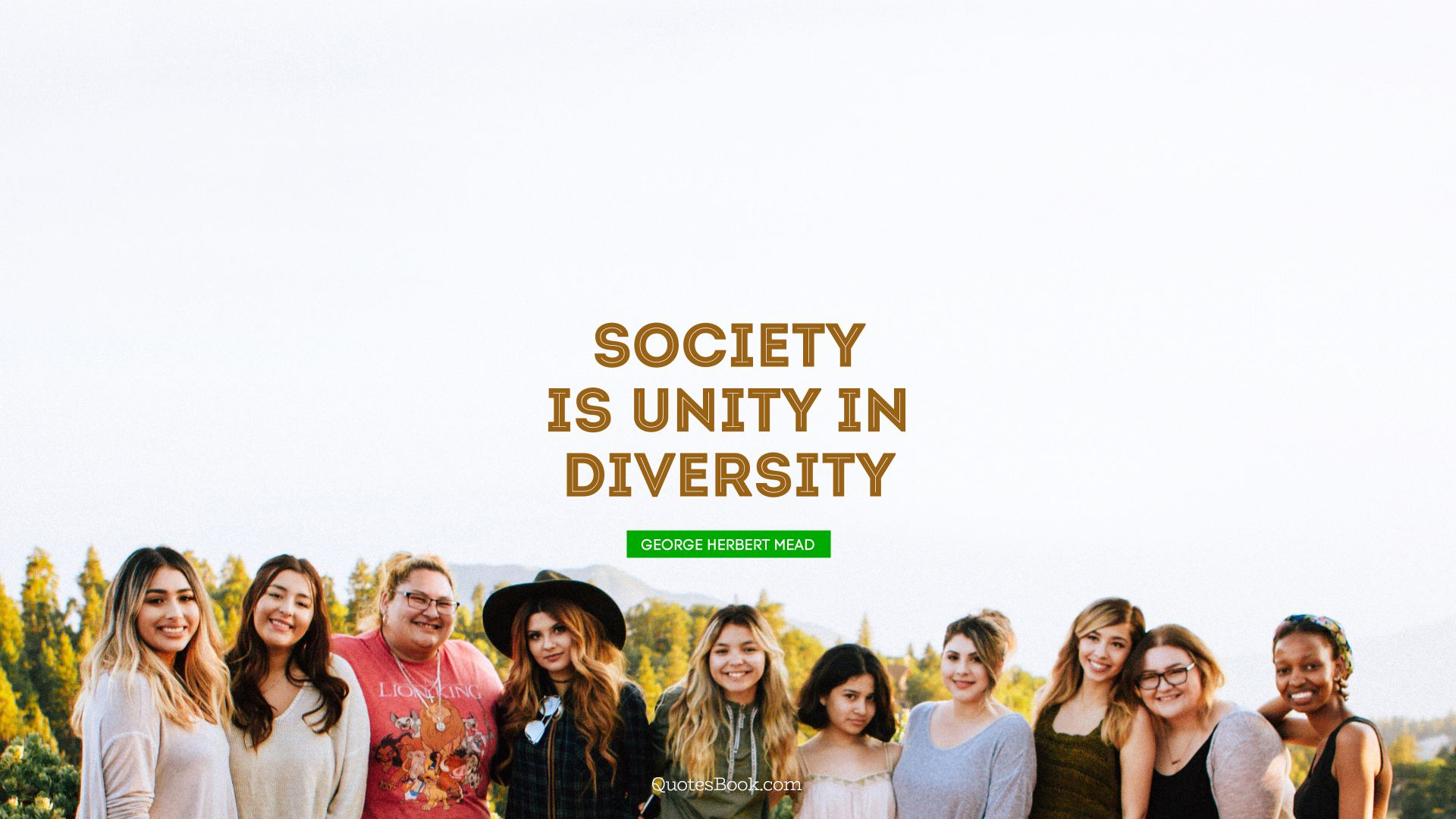 Society Is Unity In Diversity Quote By George Herbert Mead