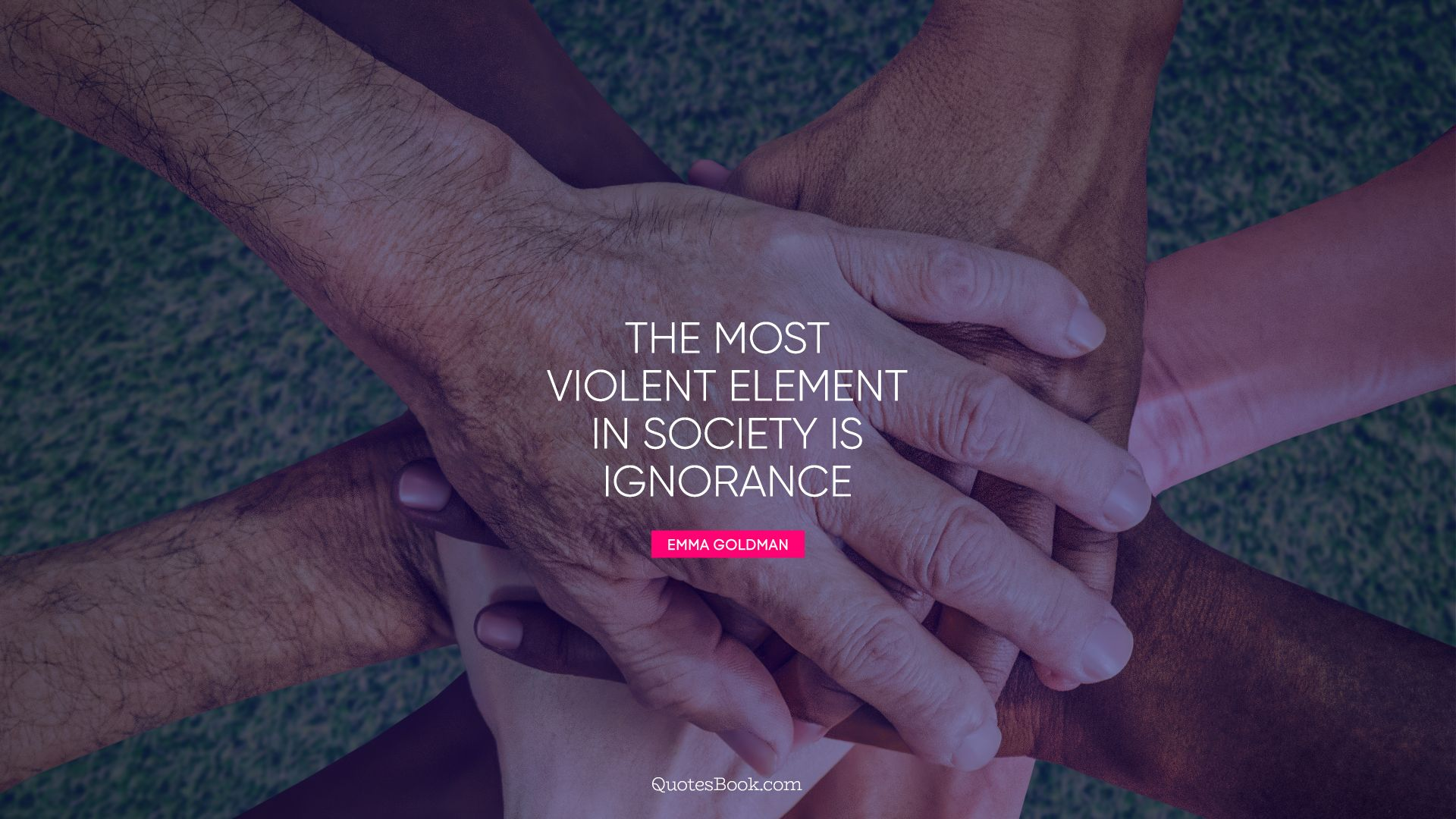 The most violent element in society is ignorance. - Quote by Emma Goldman