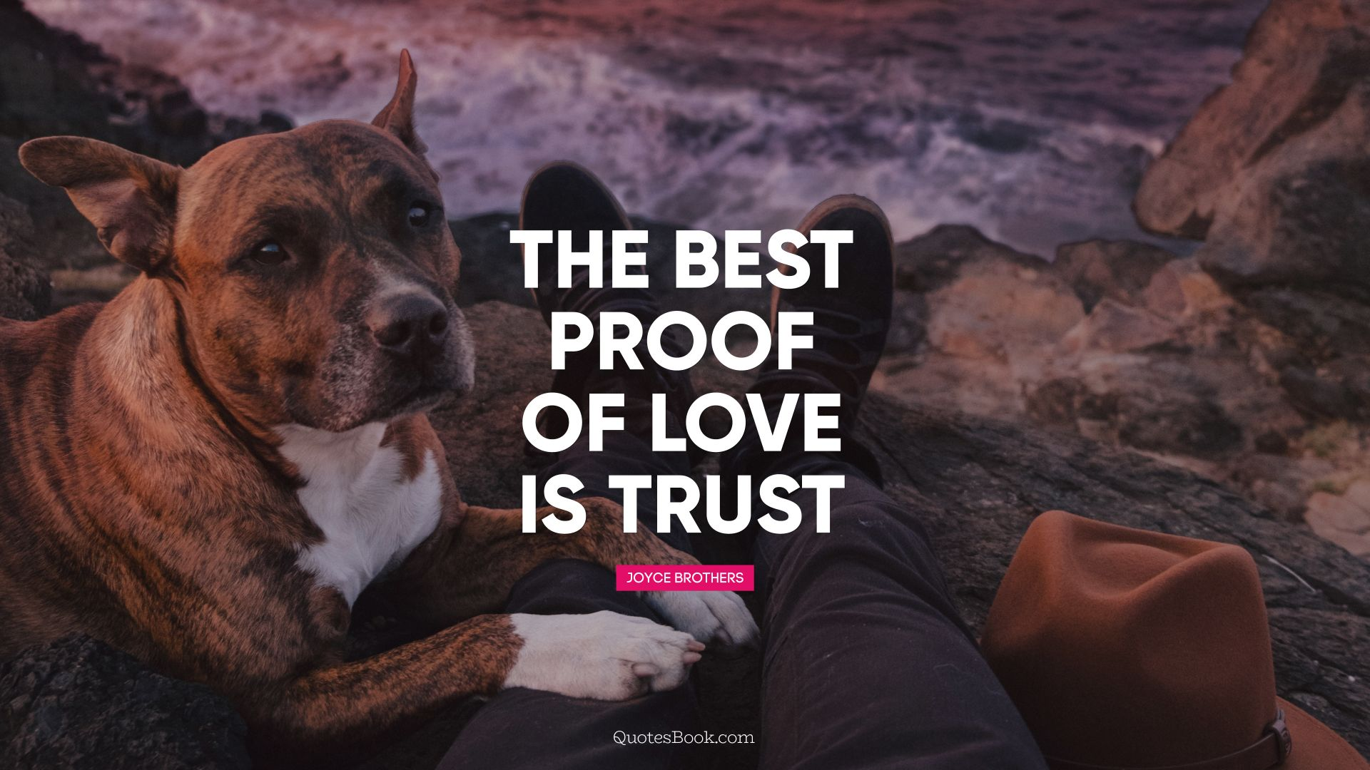 The best proof of love is trust. - Quote by Joyce Brothers