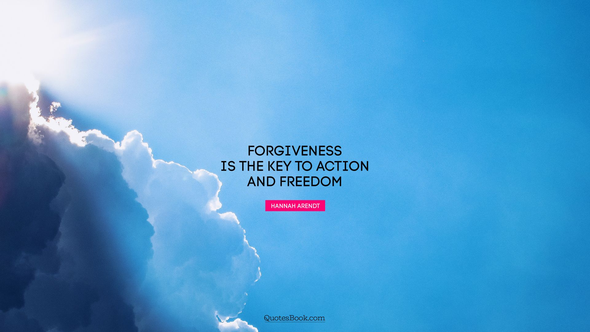 Forgiveness is the key to action and freedom. - Quote by Hannah Arendt