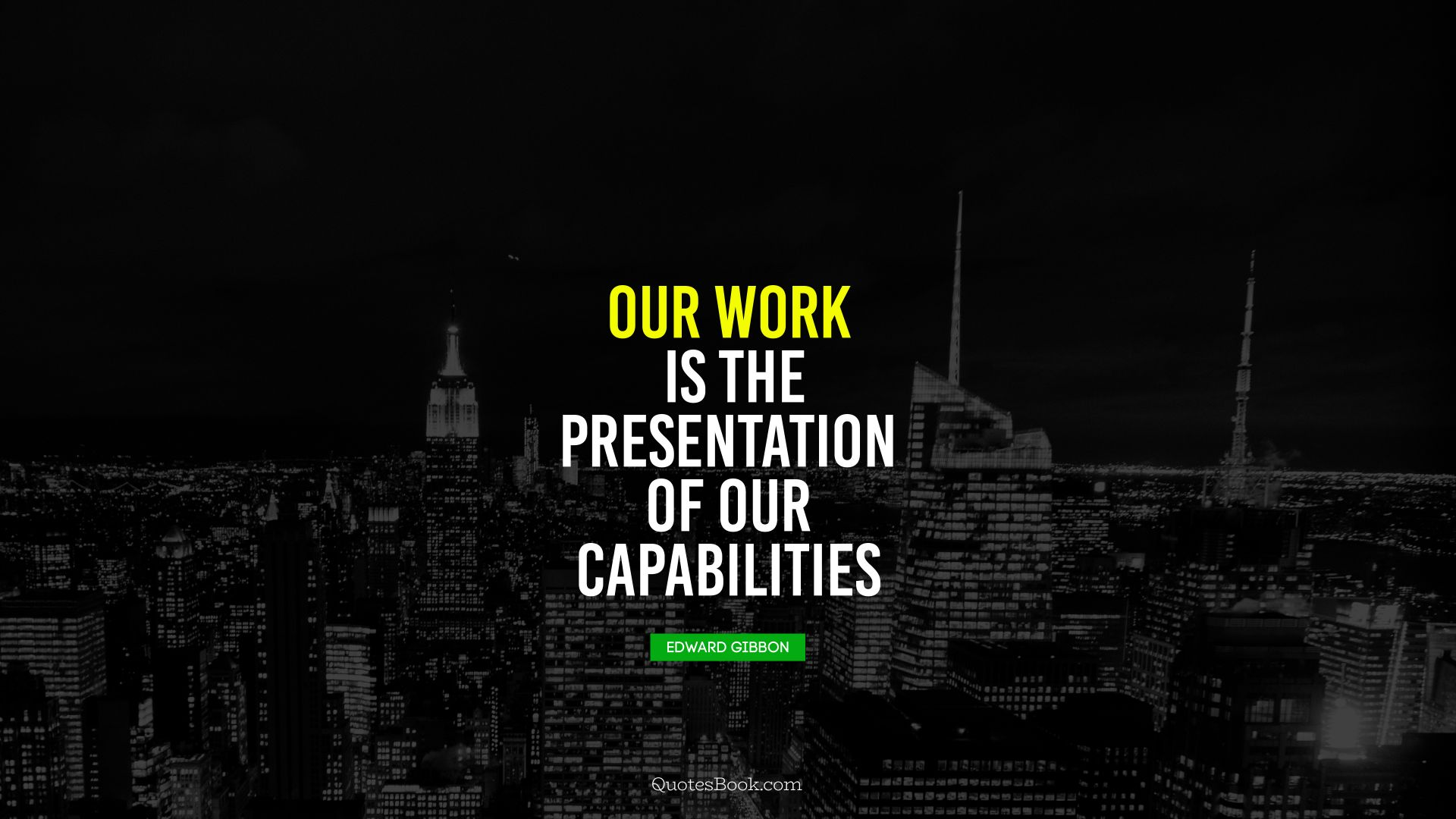 Our work is the presentation 