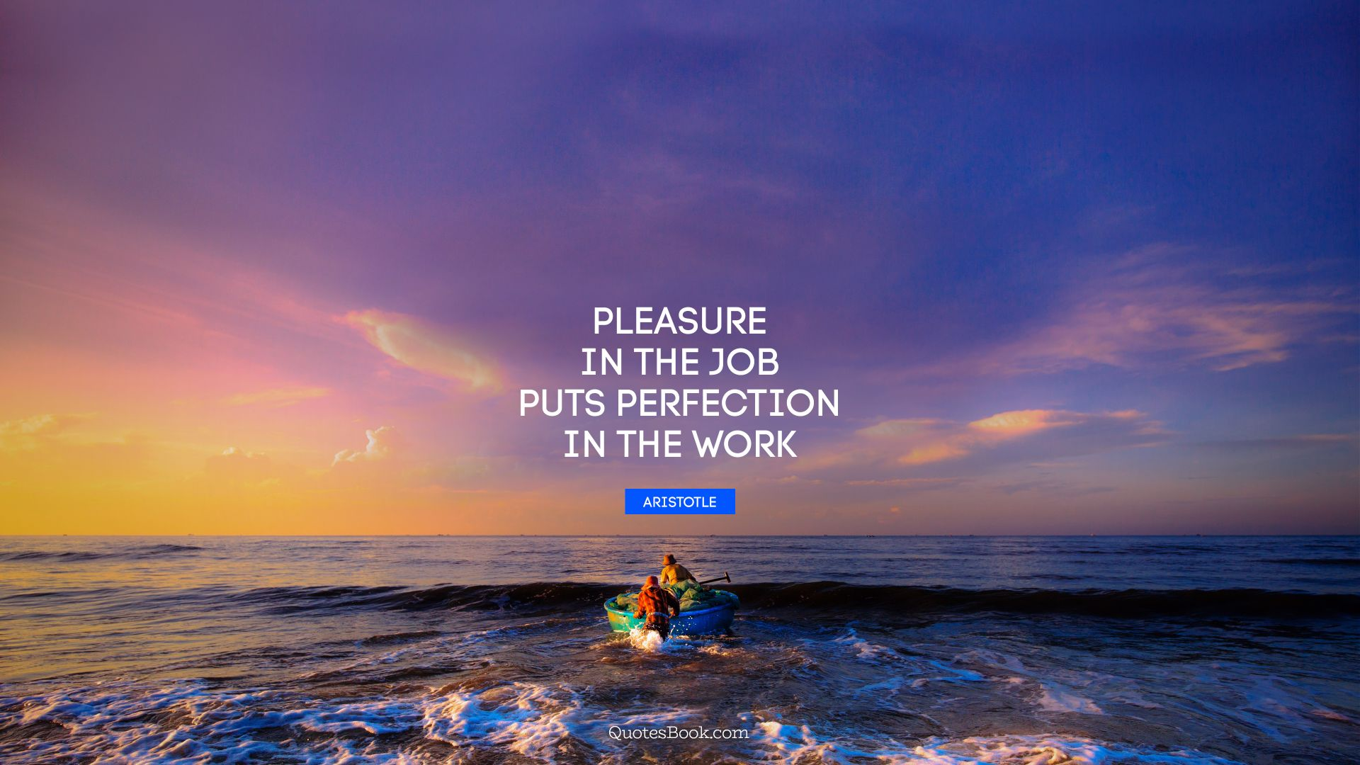 Pleasure in the job puts perfection in the work. - Quote by Aristotle