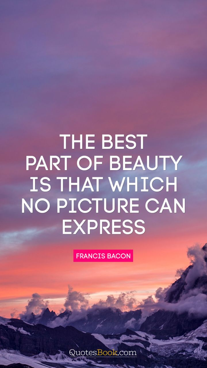 The best part of beauty is that which no picture can express. - Quote by Francis Bacon