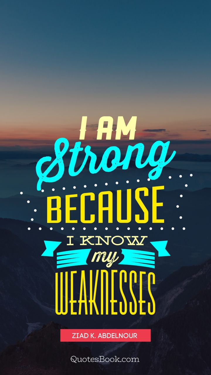 Your place I am strong quote
