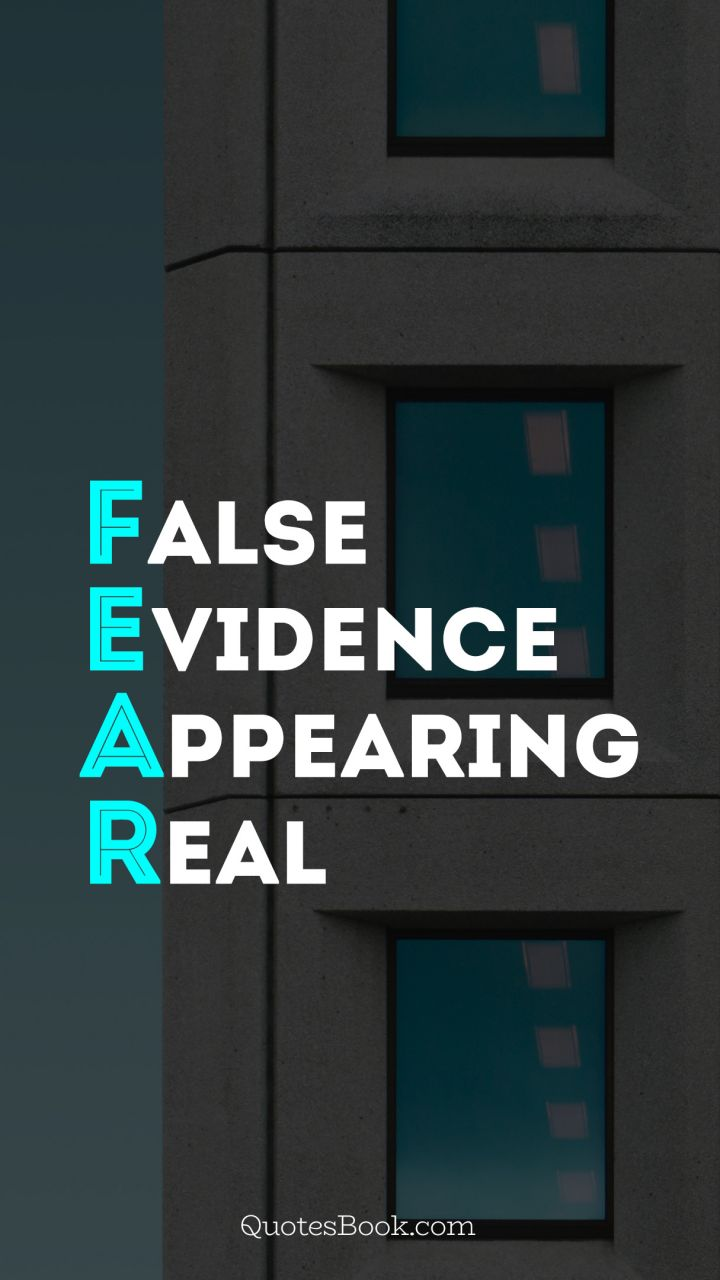 False evidence appearing real