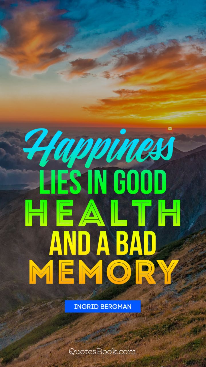 Good health and happiness