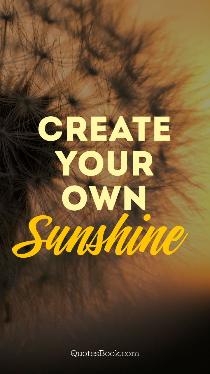 Create Your Own Sunshine Quotesbook