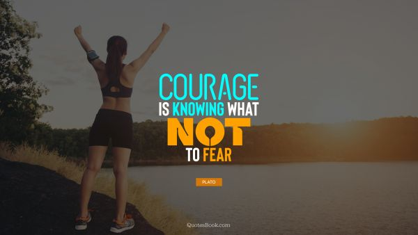 QUOTES BY Quote - Courage is knowing what not to fear. Plato