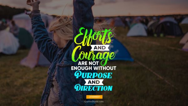 Еfforts and courage are not enough without purpose and direction