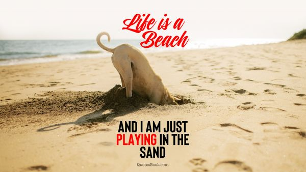 Memes Quote - Life is a beach and I am just playing in the sand. Unknown Authors