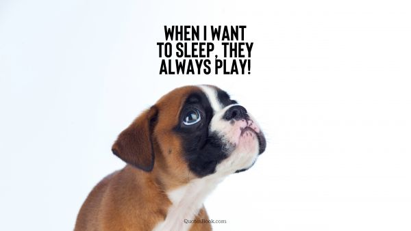 Memes Quote - When I want to sleep, they always play!. Unknown Authors