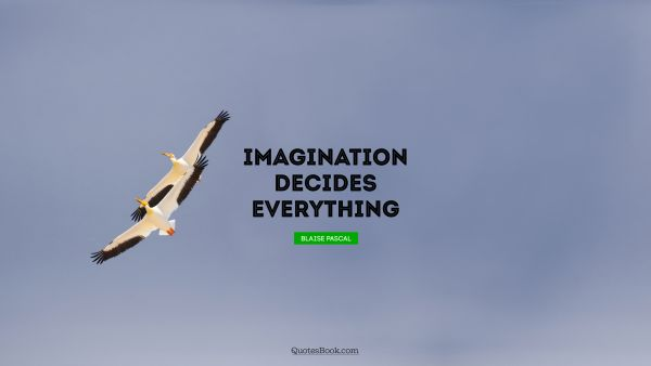 Imagination decides everything