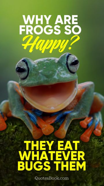 Why are frogs so happy? They eat whatever bugs them