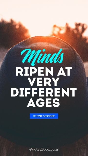 Minds ripen at very different ages