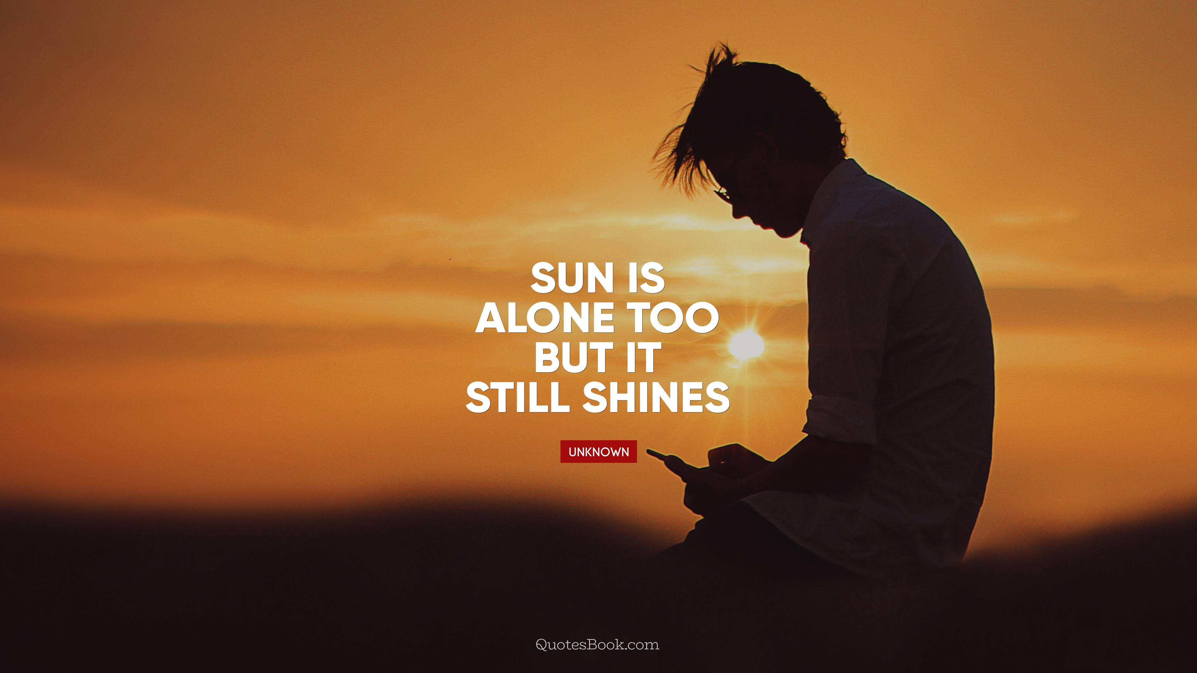 sun is alone too but it still shines quotesbook