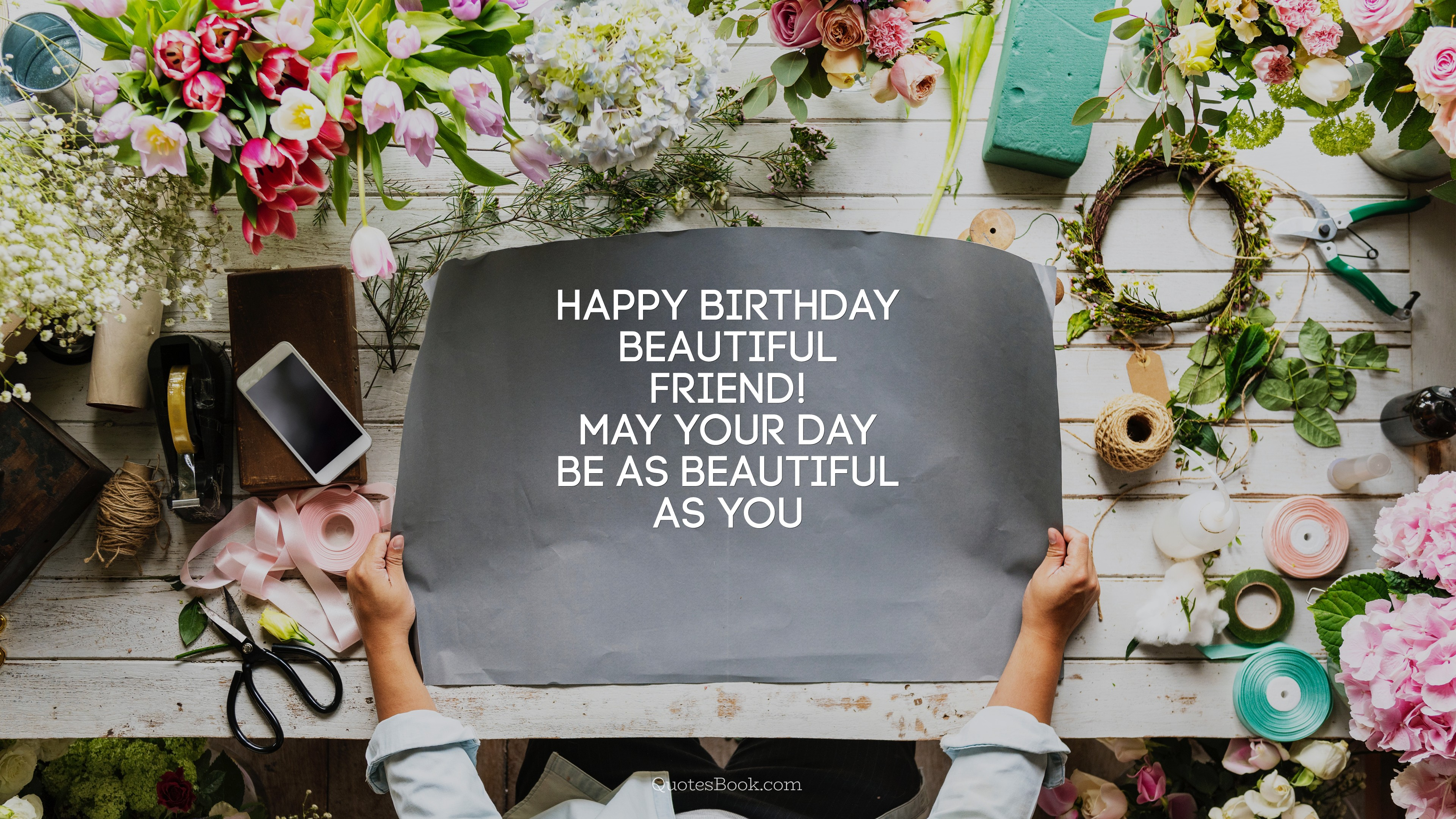 Happy Birthday Beautiful Friend May Your Day Be As Beautiful As You