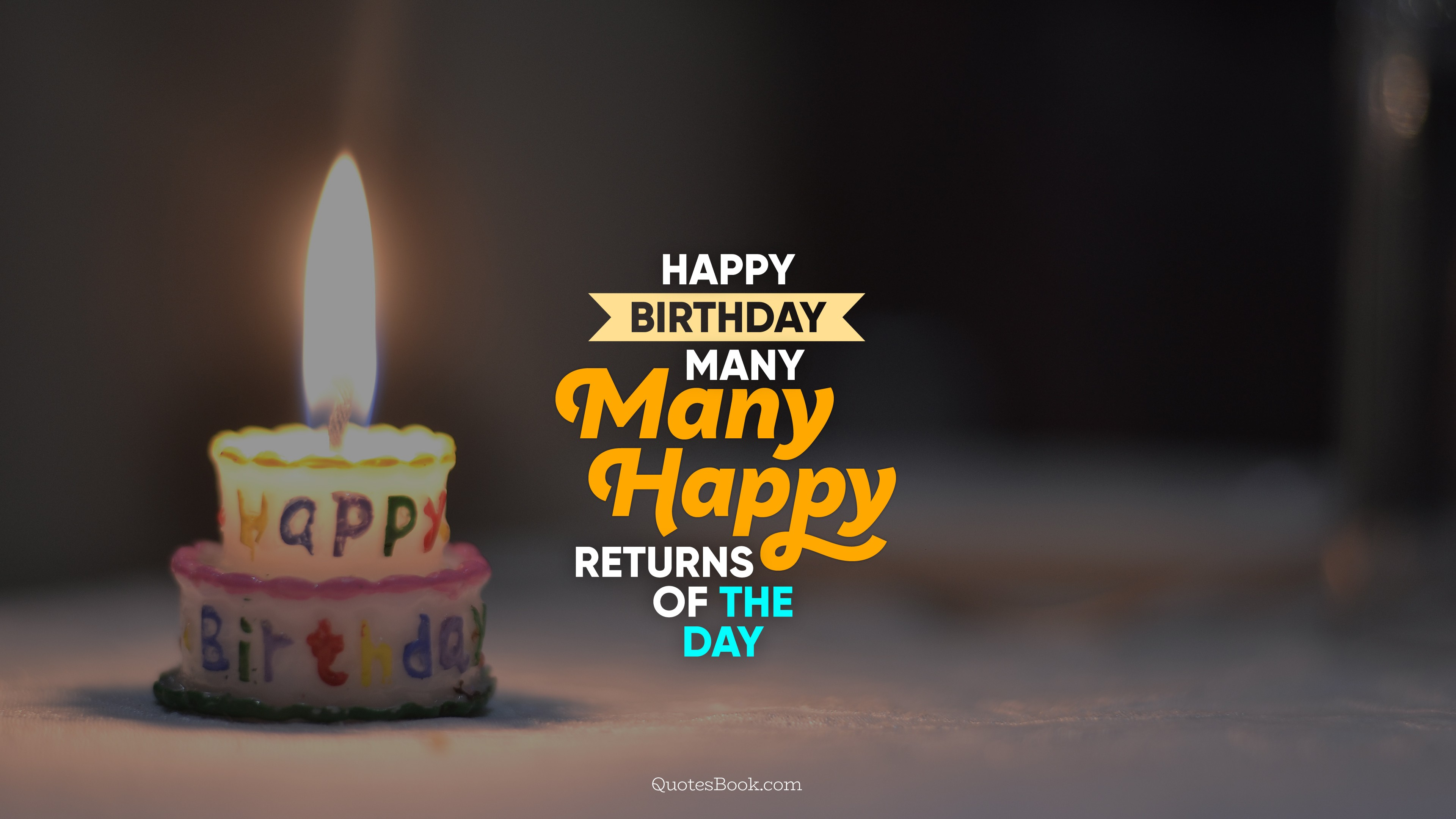 Happy Birthday Many Many Happy Returns Of The Day Quotesbook