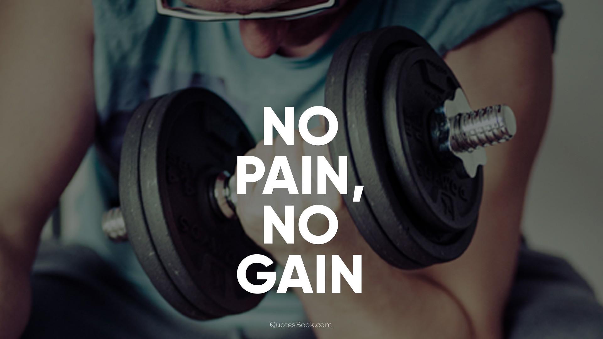 No Pain No Gain Page 3 Quotesbook