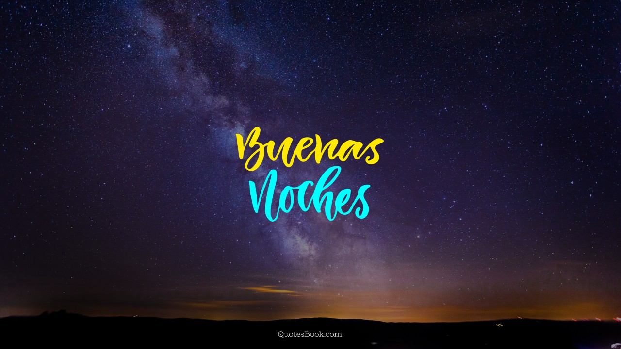 Buenas Noches Quotesbook