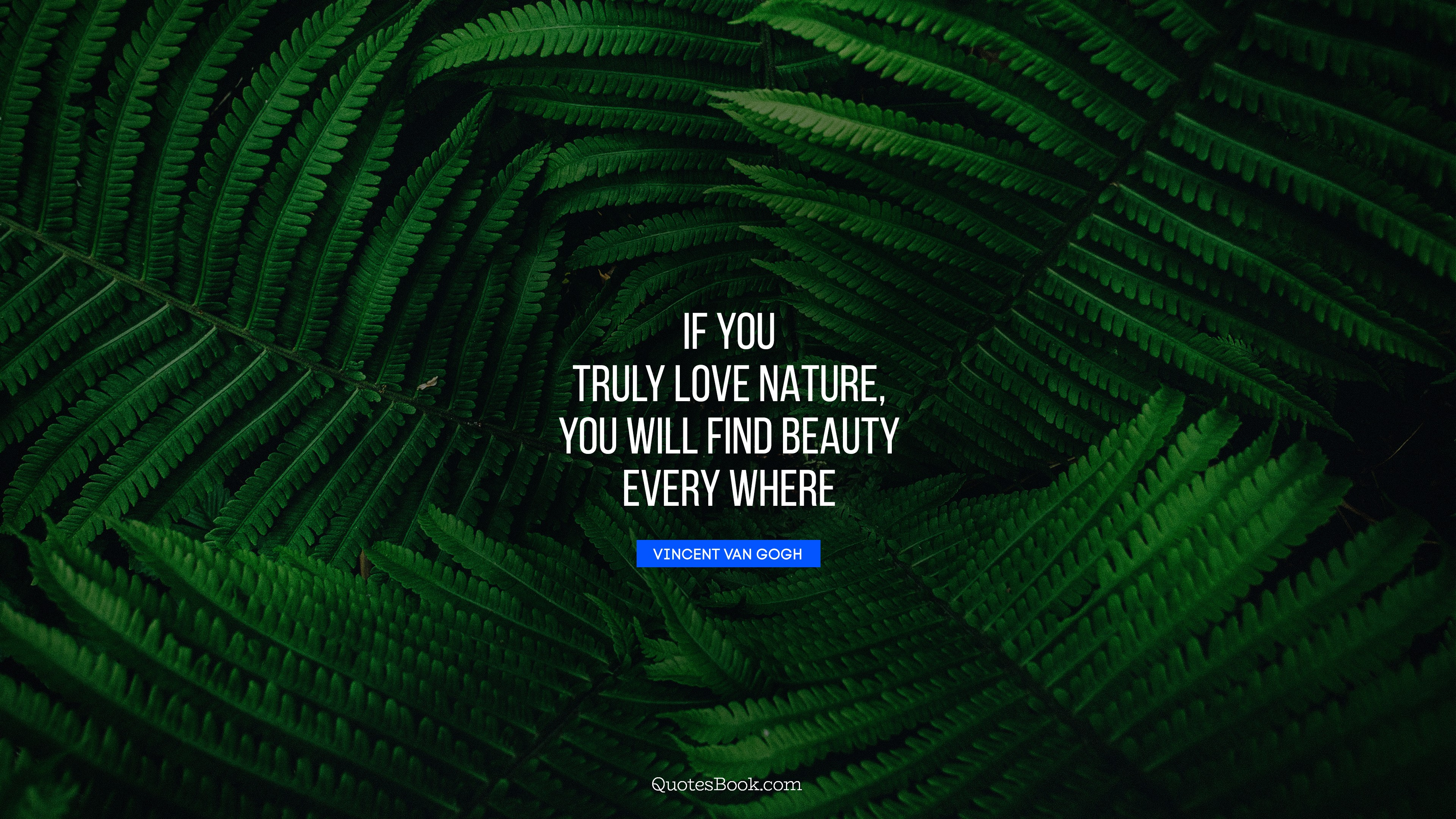 If You Truly Love Nature You Will Find Beauty Every Where Quote By Vincent Van Gogh Quotesbook