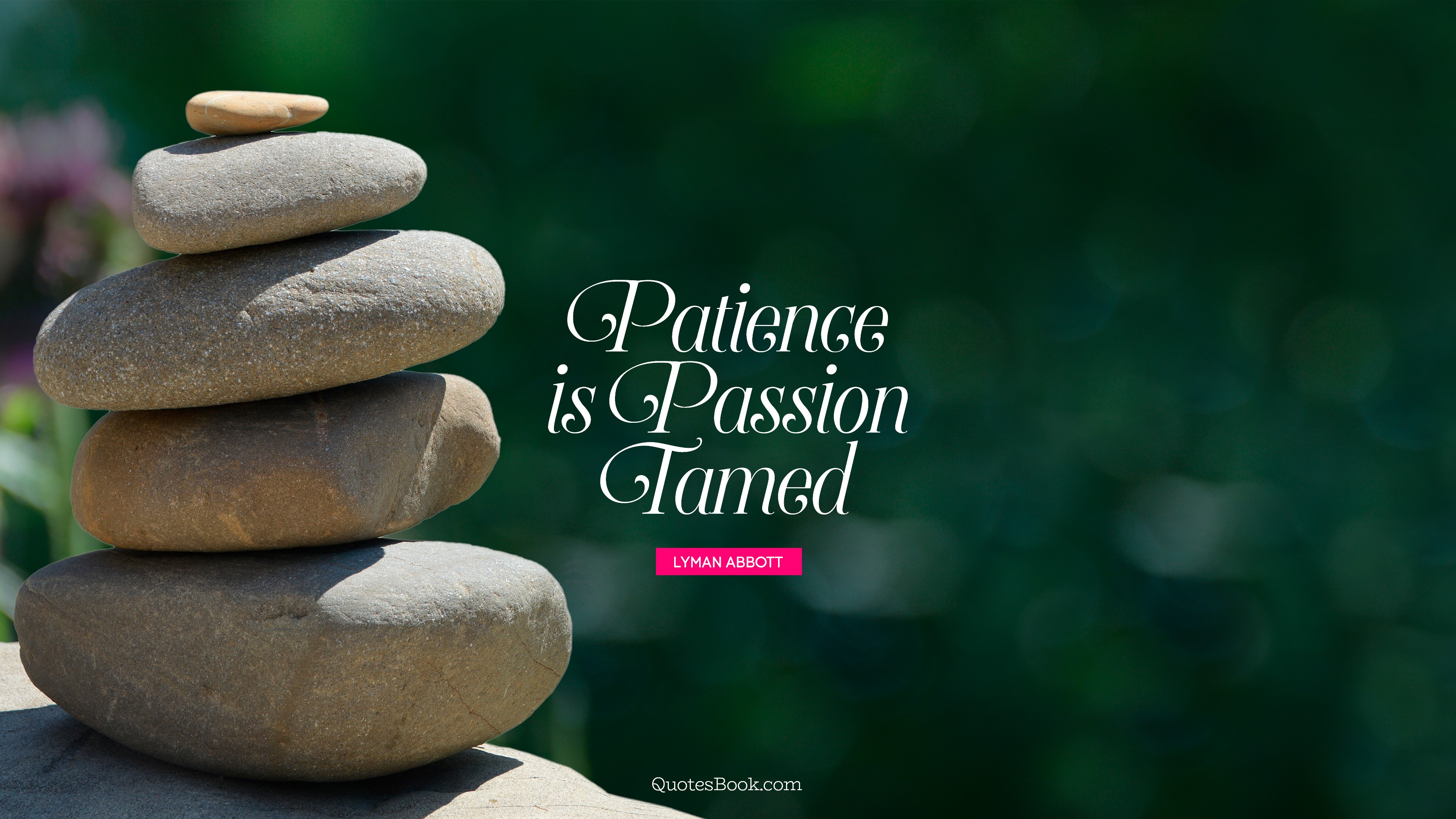 Patience Is Passion Tamed Quote By Lyman Abbott Quotesbook
