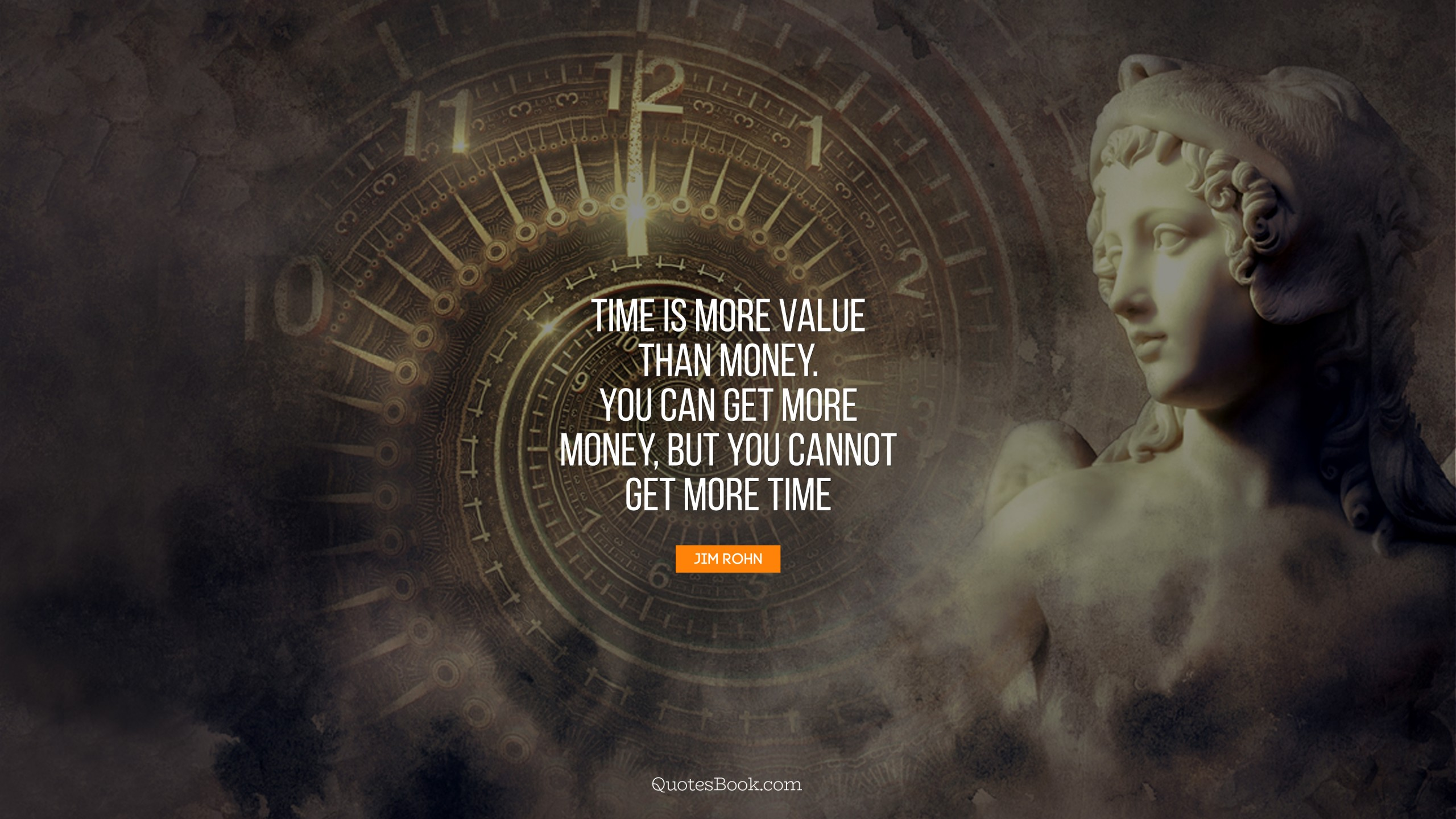 Time Is More Value Than Money You Can Get More Money But